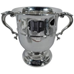 Large Classic English Edwardian Sterling Silver Trophy Cup