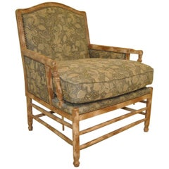 French Country Bergere Style Armchair by Isenhour Furniture