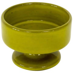 Jacques and Dani Ruelland Chartreuse Green French Ceramic Chalice
