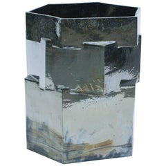 Extra Large Contemporary Ceramic Palladium Hexagon Planter