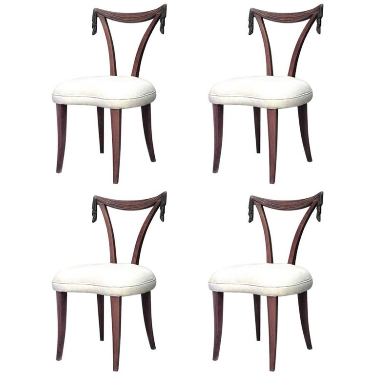 American Art Moderne 1940s Side Chairs
