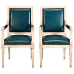French Louis XVI Style Armchair from the Old Plank Collection