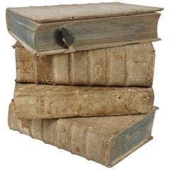 Four 18th Century Vellum Covered Latin Books