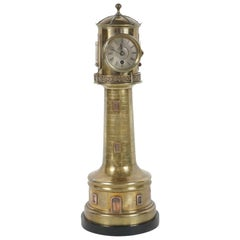 19th Century French Lighthouse Animated Industrial Clock by Guilmet