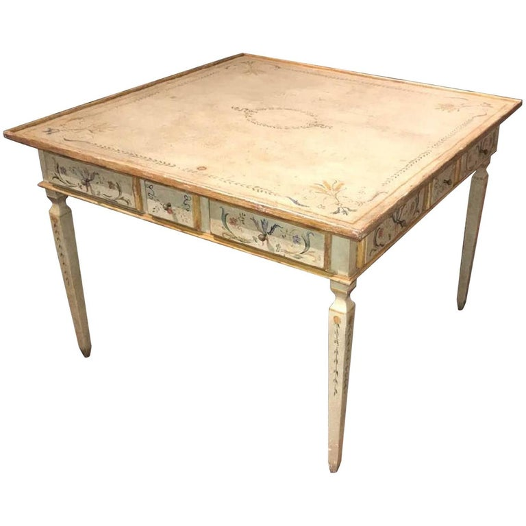 Italian Neoclassical Painted Table