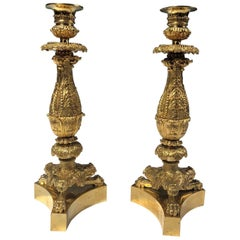 19th Century Pair of Charles X Candlesticks