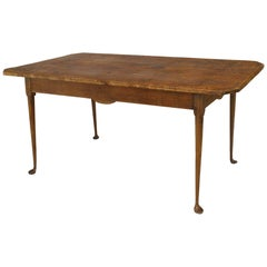 American Country 18th Century Queen Anne Style Rectangular Dining Table