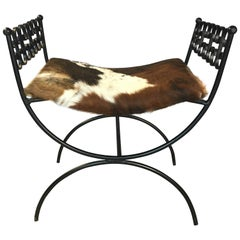 Arthur Umanoff Vanity Stool Grenada Collection with Cowhide Seat