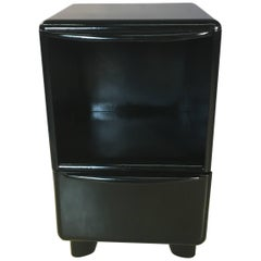 Heywood Wakefield Black Lacquered Nightstand