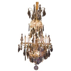 By Cristalleries De Baccarat Louis XIV Style, Gilt Bronze and Crystal Chandelier