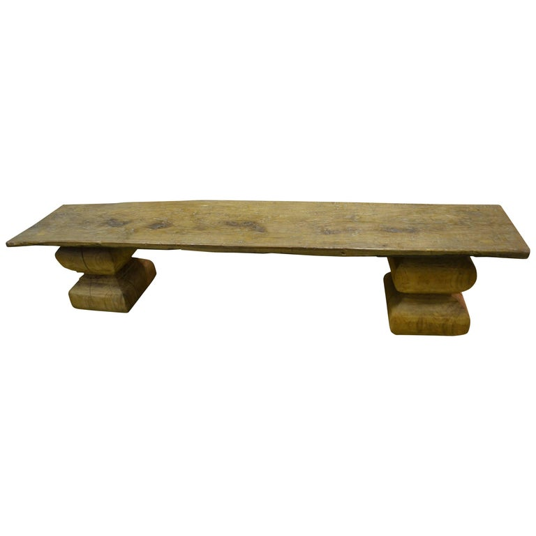 Andrianna Shamaris Wabi Sabi Teak Wood Bench or Coffee Table