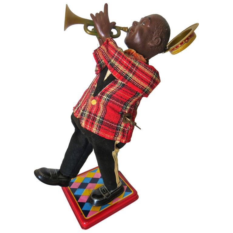 Louis Armstrong 'Satchmo' Wind Up Toy, American, circa 1950's