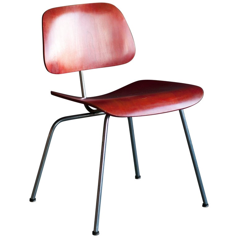 1954 Red Aniline Dye DCM Designed by Charles Eames
