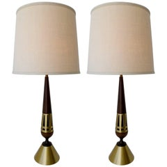 Tony Paul Pair of Table Lamps for Westwood Lighting