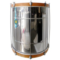 Large Weril Brazilian Samba Chrome and Hide Table or Drum