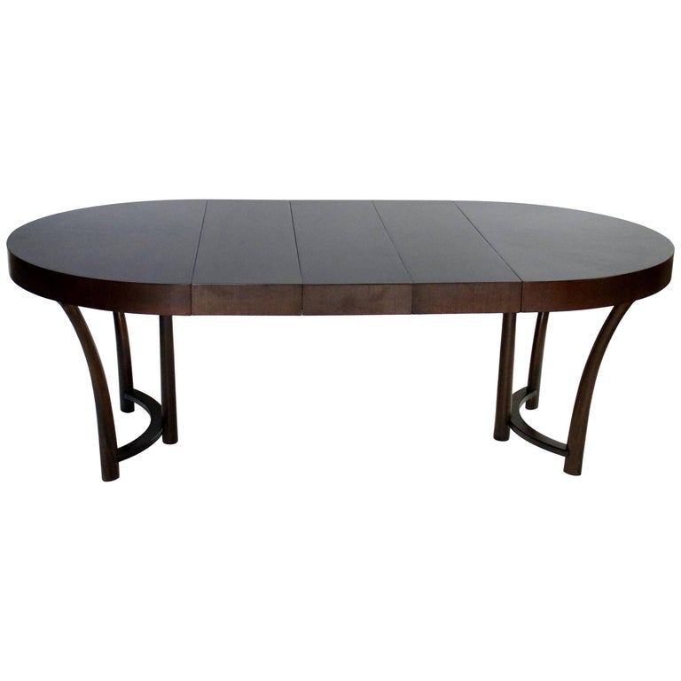 T.H. Robsjohn-Gibbings Style Expandable Dining Table by Widdicomb, circa 1938