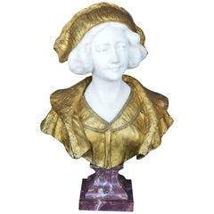 Marble and Bronze Bust by Gory