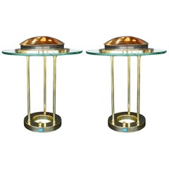 Pair of Saturn Desk Lamps by Robert Sonneman