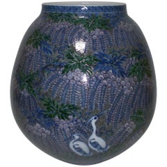 Contemporary Japanese Porcelain Vase by Master Porcelain Artist