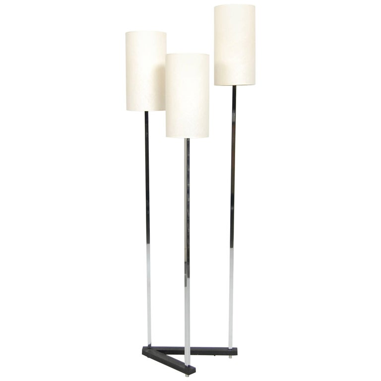 1970s Modernist Three Tier Shade Italian Floor Lamp For Sale