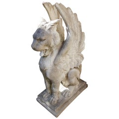 Cast Stone Winged Griffin