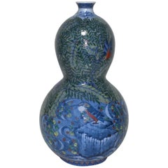 Murakami Genki Contemporary Hand-Painted Decorative Large Imari Porcelain Vase