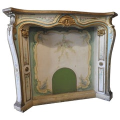 Early 20th Century Louis XV Wooden Fireplace