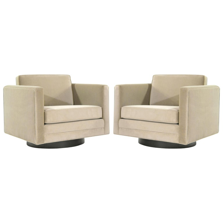 Cube Swivel Chairs by Harvey Probber, Model no. 1461