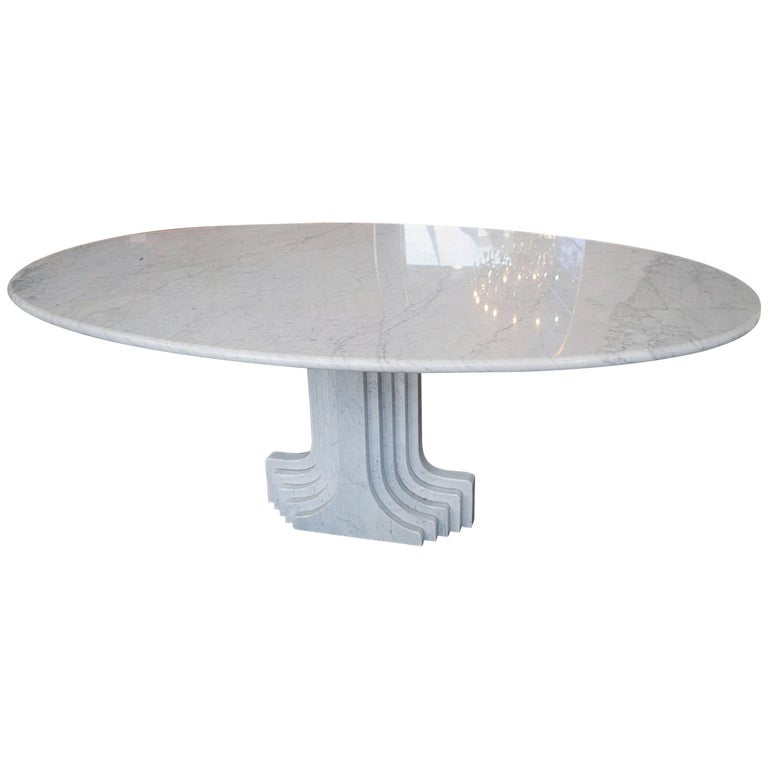 Dining Table in Marble by Carlo Scarpa, Italy, 1970 For Sale