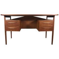 Classic Danish Modern Teak Desk by Gunnar Nielsen Tibergaard, Denmark