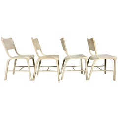 Set of Four Metal Industrial Side Chairs Manufactured by Doehler Metal Furn Co