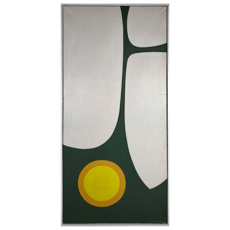 Large Modern Abstract Oil Painting by Wilhelmina Godfrey, circa 1968