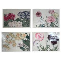 Japanese Old Woodblock Flower Prints Tanigami Konan Immediately Frameable #4