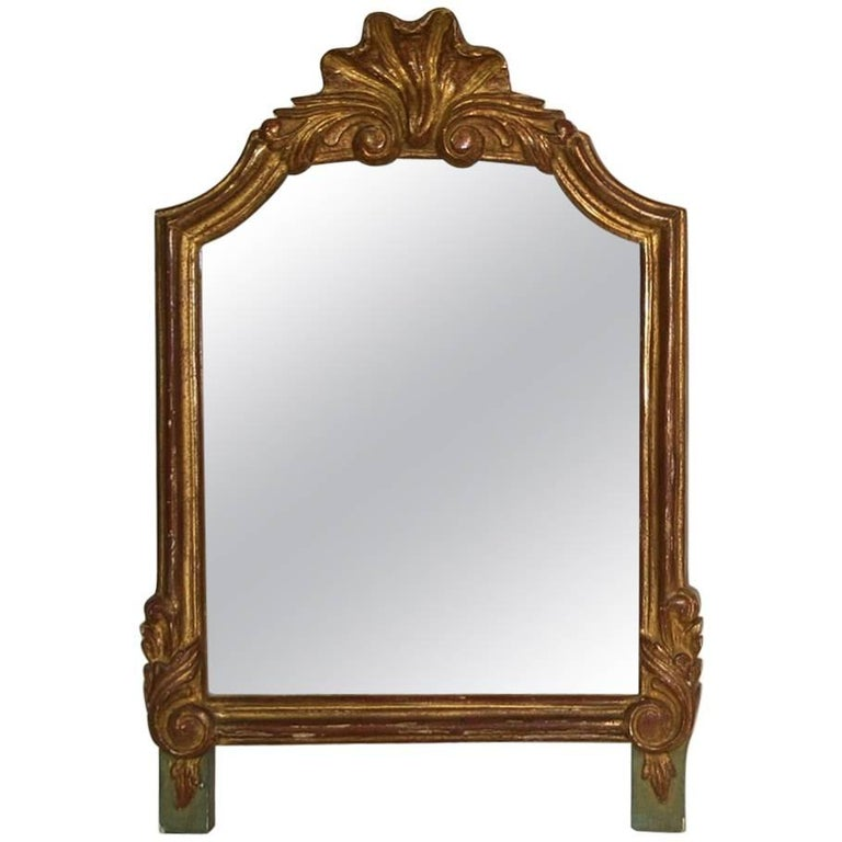 Small French 19th Century Giltwood Mirror