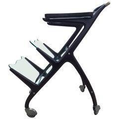 Cesare Lacca Bar Cart Magazine Rack