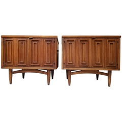 "Pair of Broyhill ""Sculptra"" Night Stands"