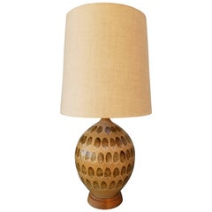 Large-Scale Drip Glaze Ceramic Table Lamp