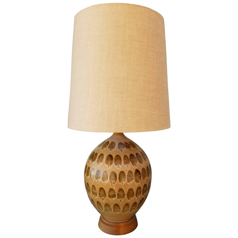Large-Scale Drip Glaze Ceramic Table Lamp