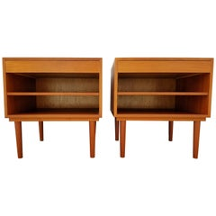 Teak Danish Modern End Tables or Nightstands