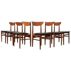 Midcentury Danish Dining Chairs by Skovby Møbelfabrik, Set of Six