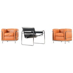 "Marcel Breuer, B3 Clubchair, ""Wassiliy Chair"" by Knoll International, Signed"