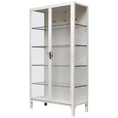 Vintage Iron Medical Cabinet, 1960s