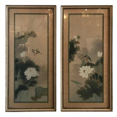 Pair of Japanese Paintings on Silk