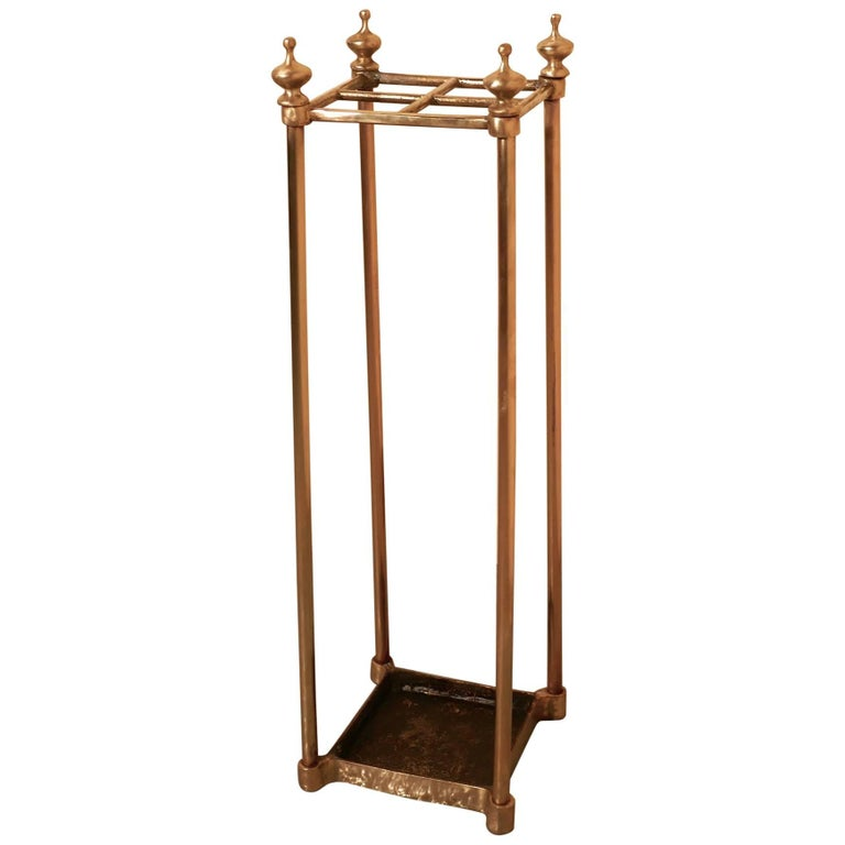 Victorian Brass and Cast Iron Walking Stick Stand or Umbrella Stand