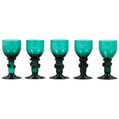 Antique Green Glasses