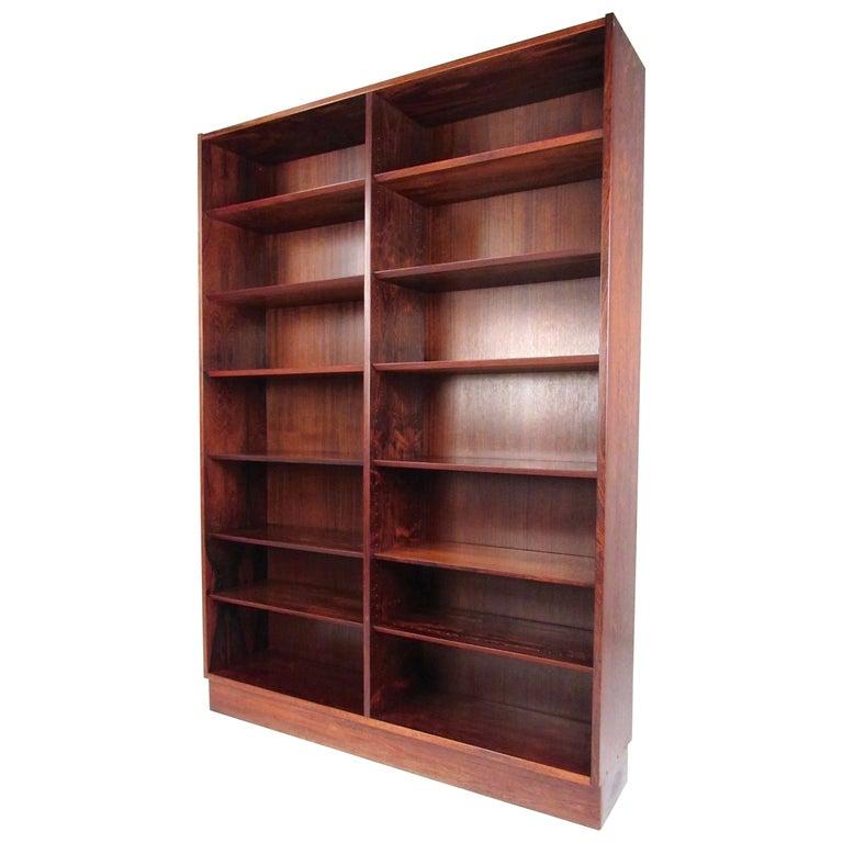 Scandinavian Modern Bookcase in Danish Rosewood