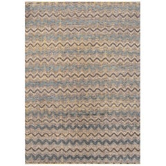 21st Century Multicolored Geometric Moroccan-Style Carpet