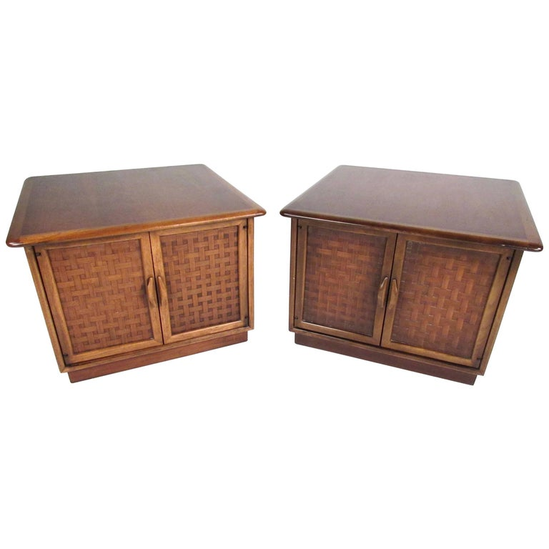 Pair of Warren Church End Table Cabinets for Lane For Sale
