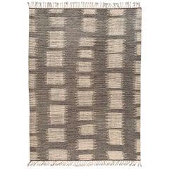 21st Century Gray Geometric Moroccan-Style Carpet
