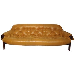 Midcentury Leather Sofa by Percival Lafer